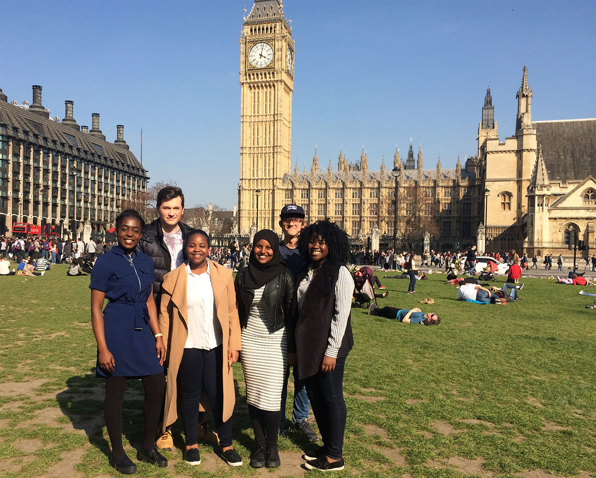 Our student mentees pictured in front of the Elizabeth Tower (Big Ben), outside the Palace of Westminster