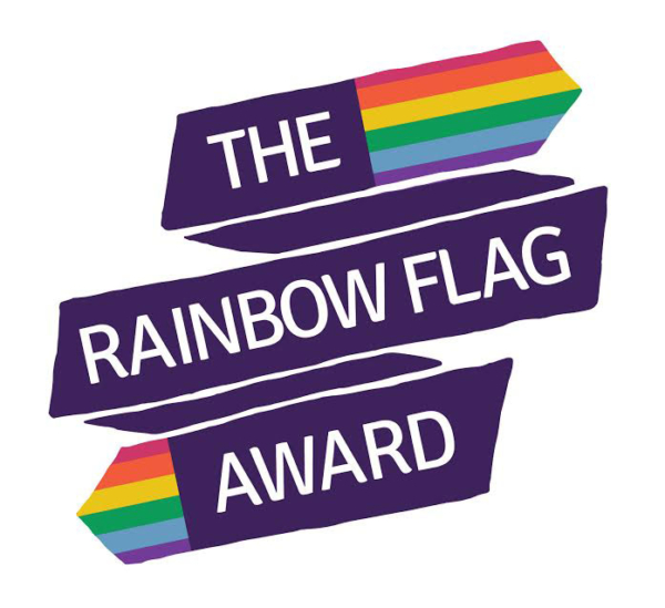 The Rainbow Flag Award logo