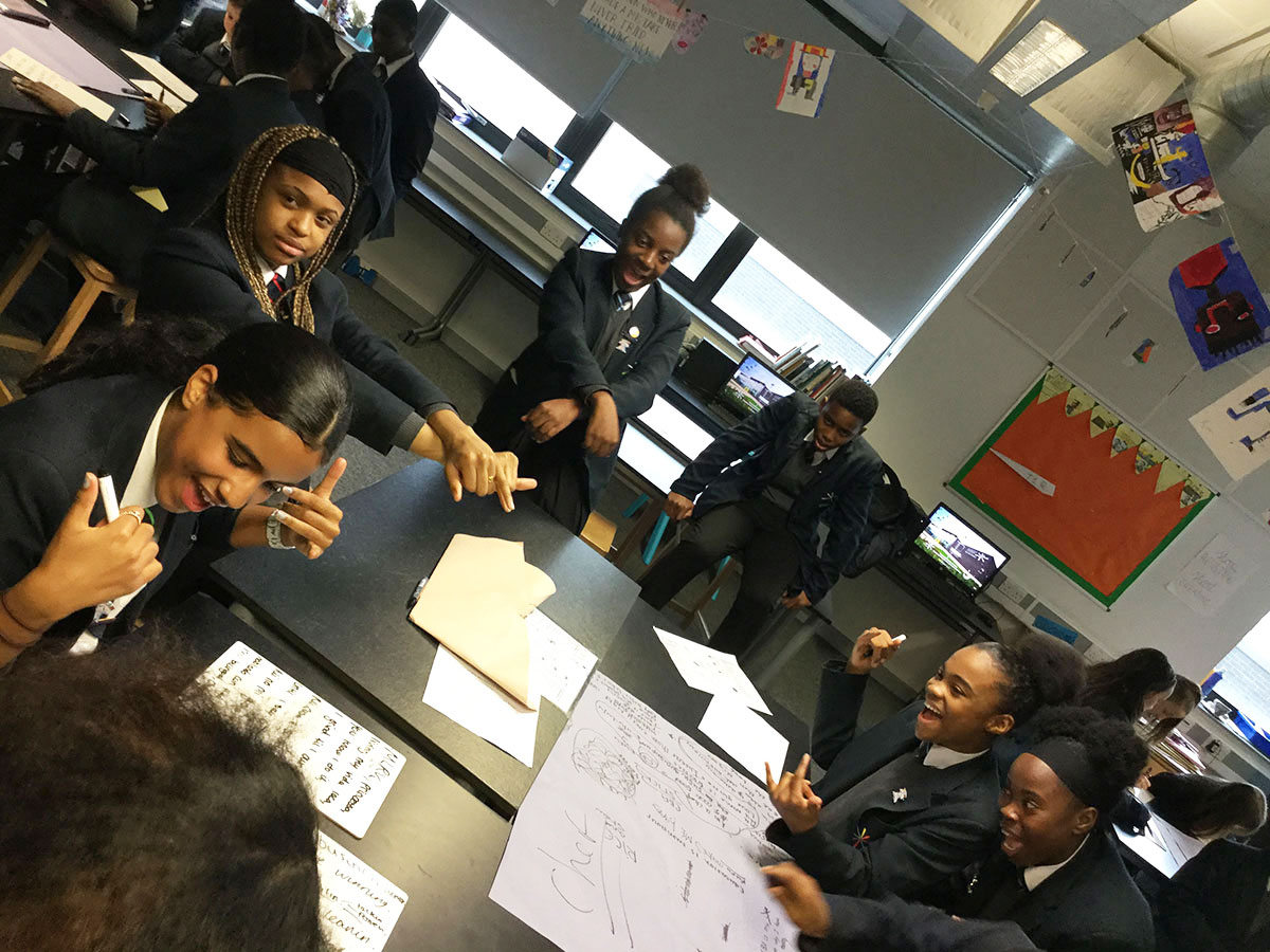 Pupils compose and perform raps as part of our PSHE theme for Deep Learning Day (December 2018)