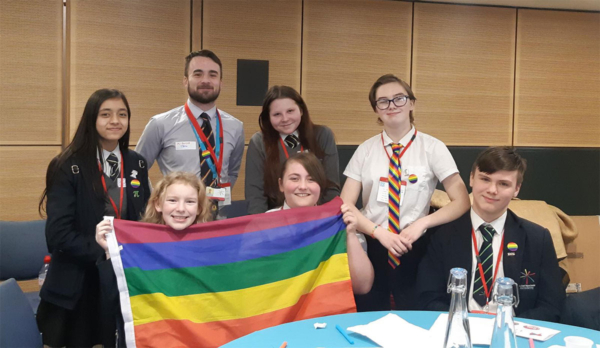 LGBTQ+ Ambassadors at the Let's Celebrate event run by The Proud Trust